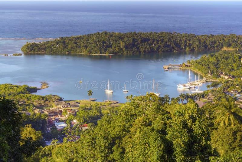 Jamaica, Antonio portuário fotografia de stock