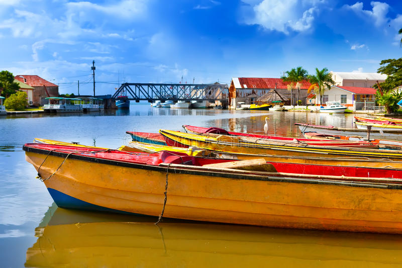 Jamaica.Black ποταμός. Τοπίο σε μια ηλιόλουστη ημέρα στοκ εικόνες με δικαίωμα ελεύθερης χρήσης