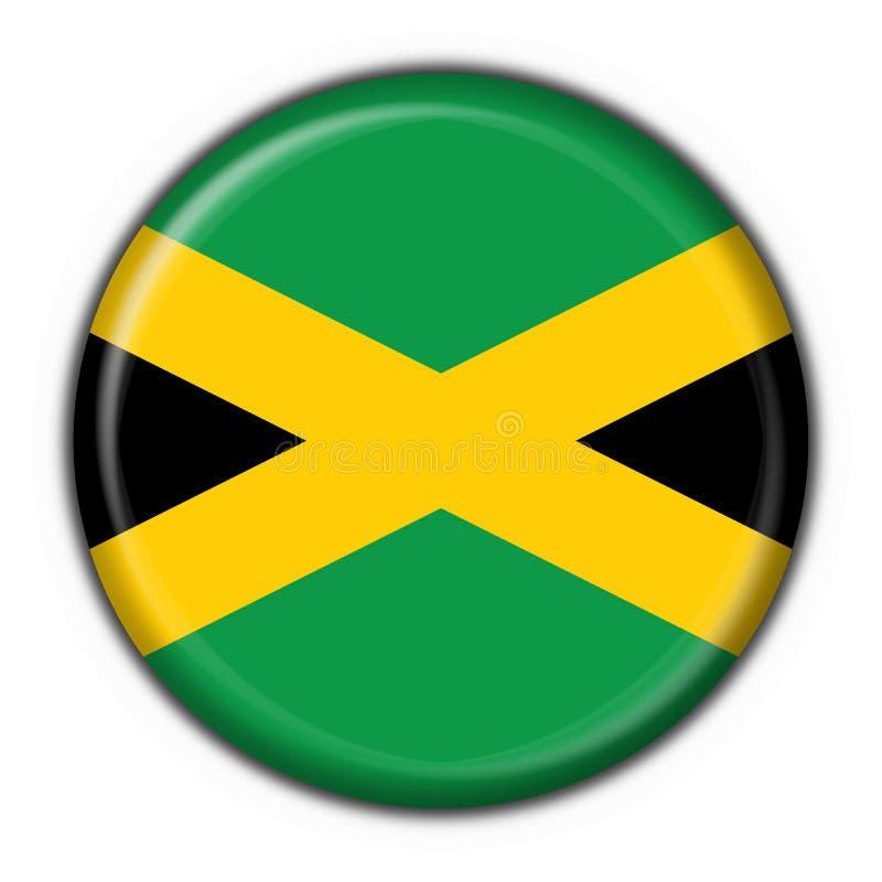 Jamaica button flag round shape stock illustration