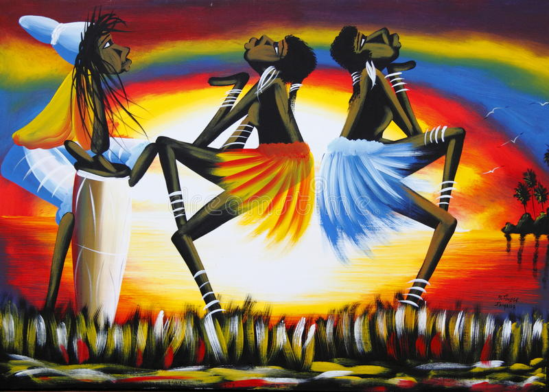 Jamaica Caribbean local art stock image