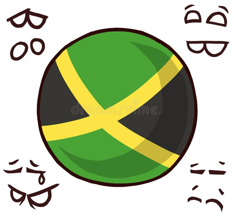 Jamaica country ball. Cool logo royalty free illustration