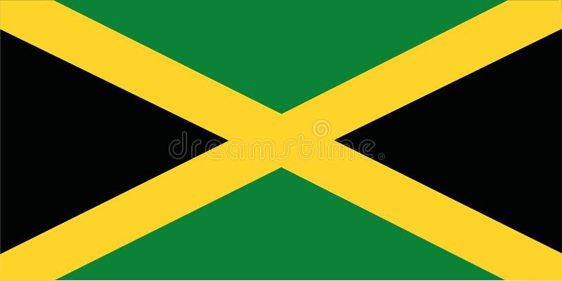 Jamaica flag. Country south america vector vector illustration