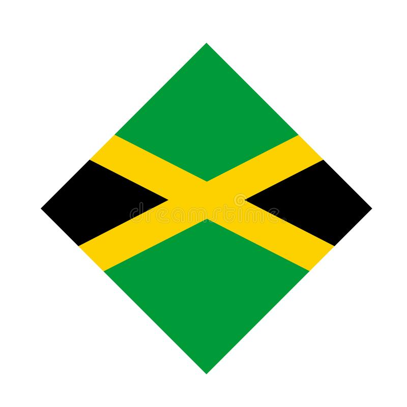 Jamaica flag - island country situated in the Caribbean Sea. Vector file of Jamaica flag - island country situated in the Caribbean Sea stock illustration