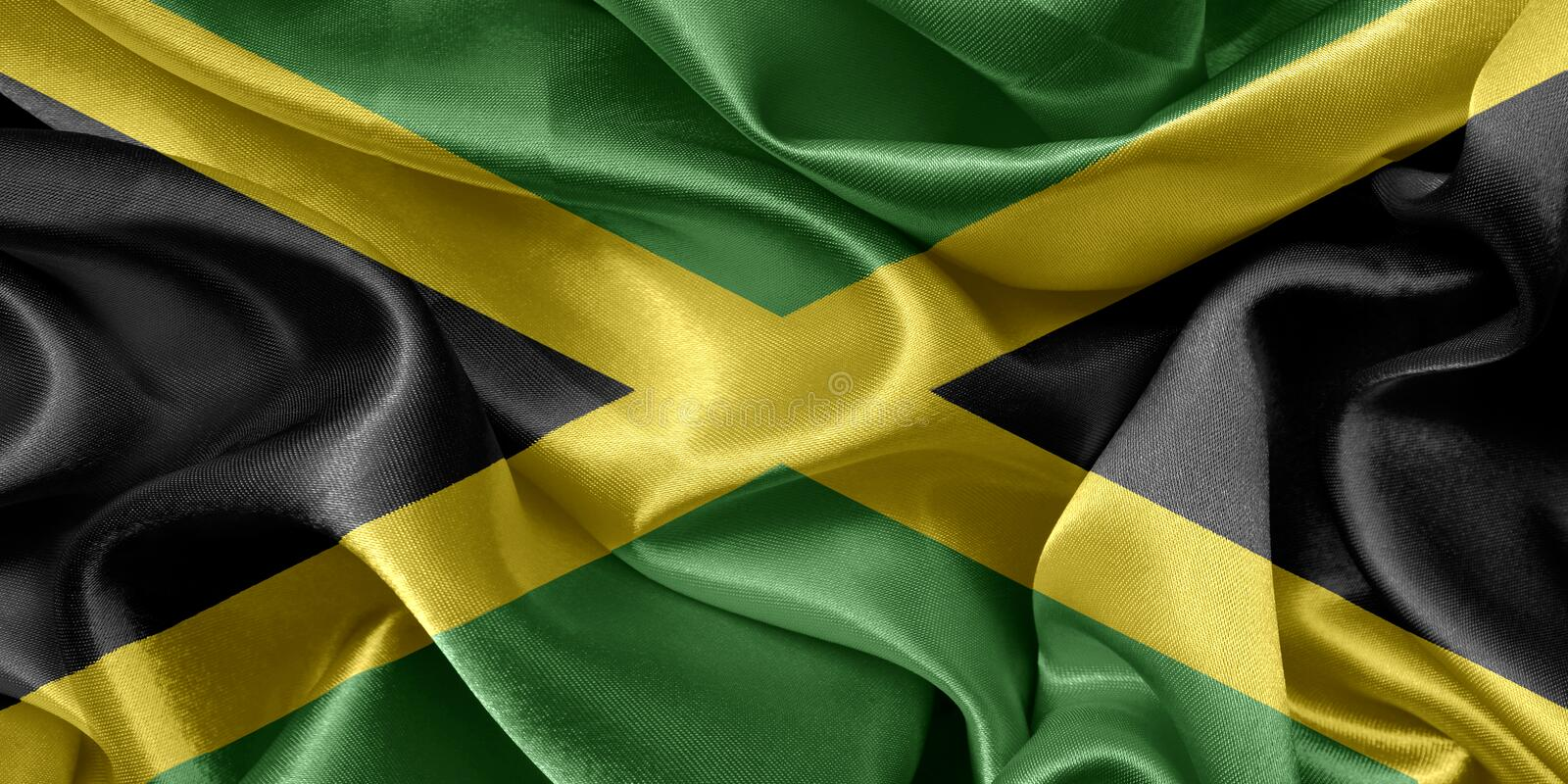 Download Jamaica flag stock photo. Image of canvas, jamaica, color - 96505008