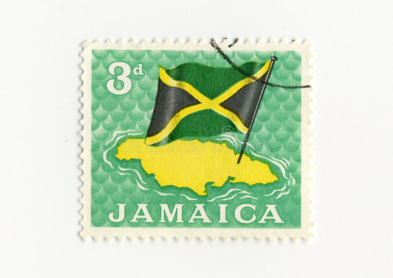 Jamaica flag stamp royalty free stock photo