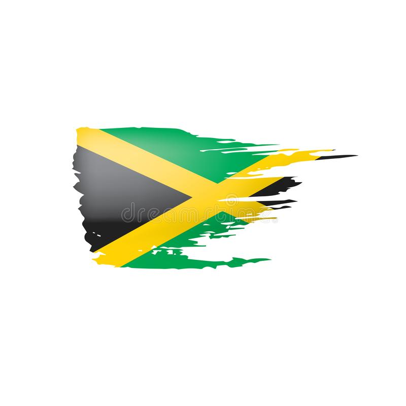 Jamaica flag, vector illustration on a white background. Jamaica flag, vector illustration on a white background vector illustration