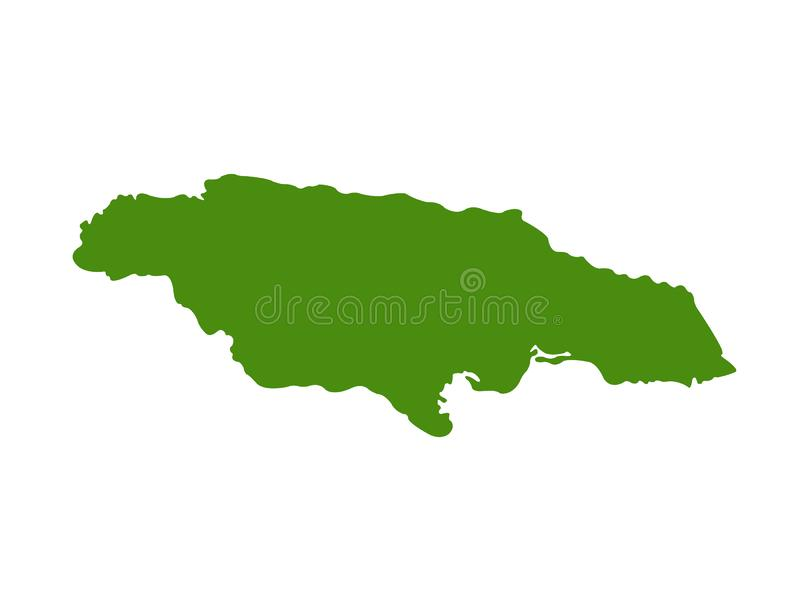 Jamaica map - island country situated in the Caribbean Sea. Vector file of Jamaica map - island country situated in the Caribbean Sea stock illustration