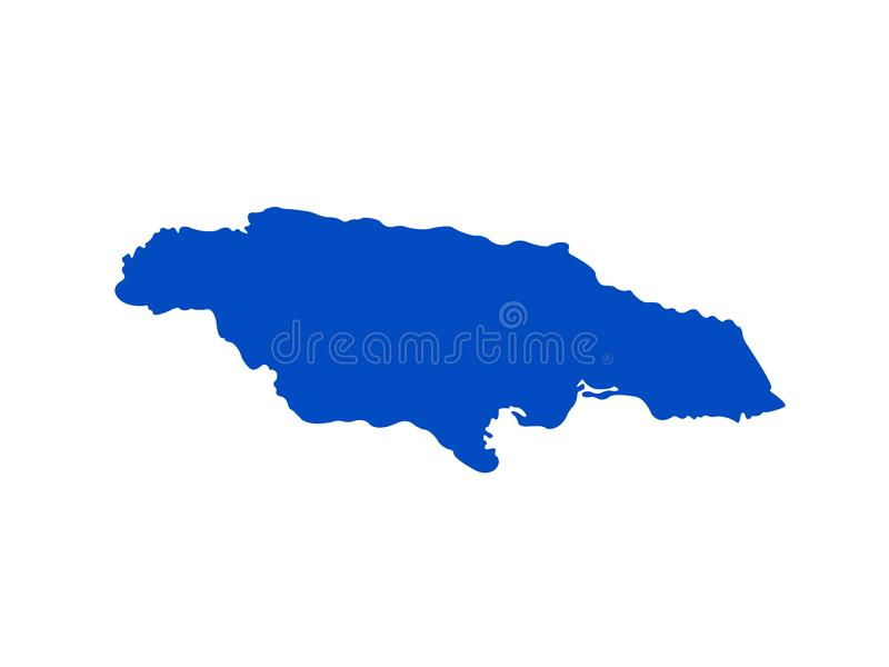 Jamaica map - island country situated in the Caribbean Sea. Vector file of Jamaica map - island country situated in the Caribbean Sea royalty free illustration