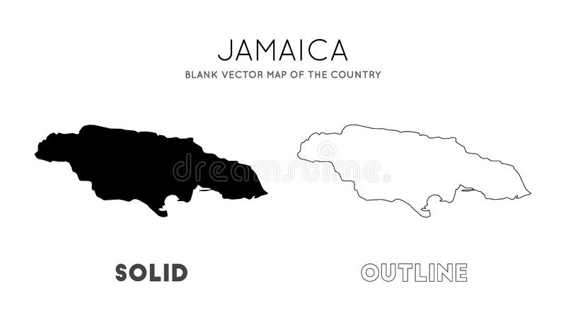 Jamaica map. Blank vector map of the Country. Borders of Jamaica for your infographic. Vector illustration vector illustration