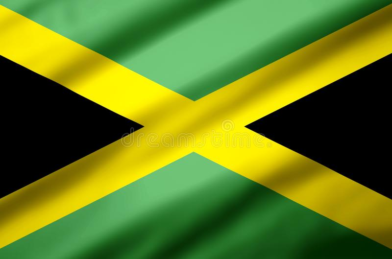 Jamaica realistic flag illustration. Usable for Background and Texture stock illustration