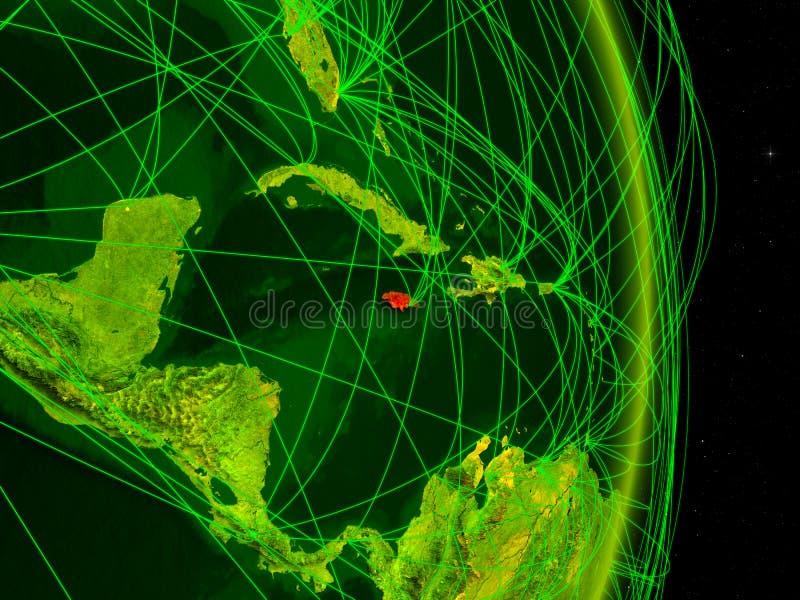 Jamaica na terra digital ilustração stock