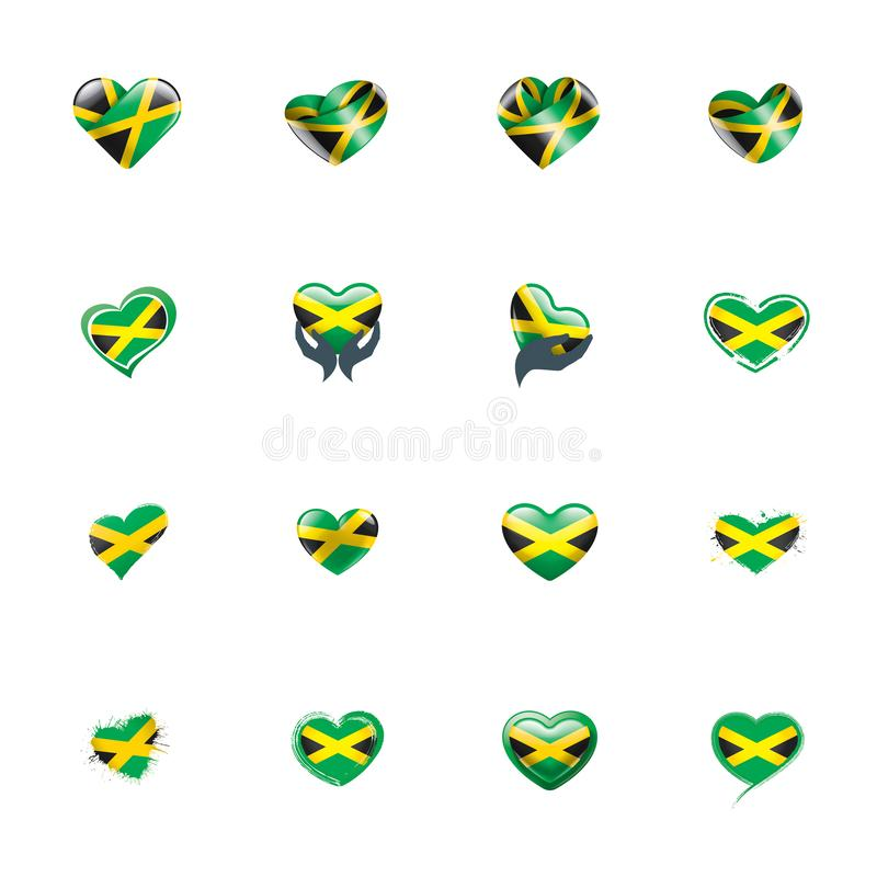 Jamaica flag, vector illustration on a white background. Jamaica national flag, vector illustration on a white background stock illustration