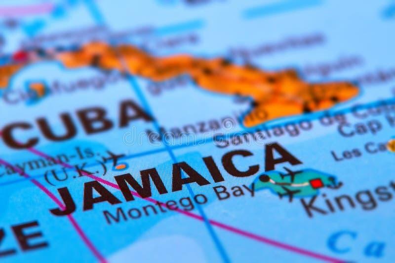 Jamaica på översikten royaltyfria foton