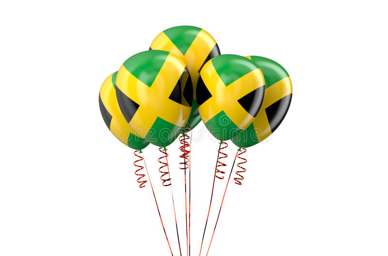 Jamaica patriotic balloons, holyday concept. Isolated on white background royalty free illustration