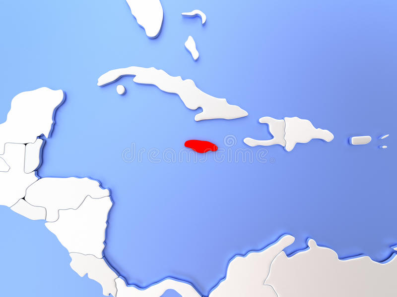 Jamaica in red on map stock illustration illustration of render download jamaica in red on map stock illustration illustration of render 86626363 gumiabroncs Images