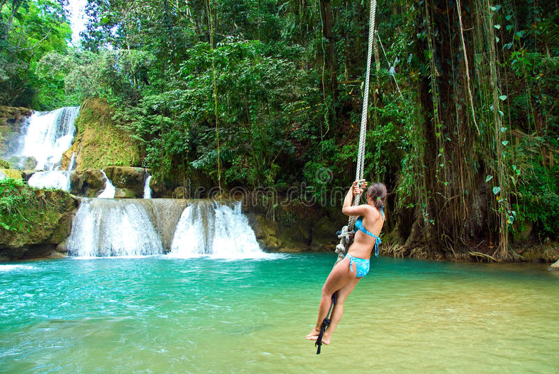 Jamaica rope jumping royalty free stock photos