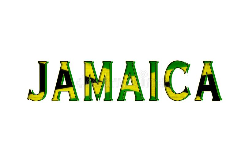 Jamaica. Tribute to the island nation of Jamaica stock illustration