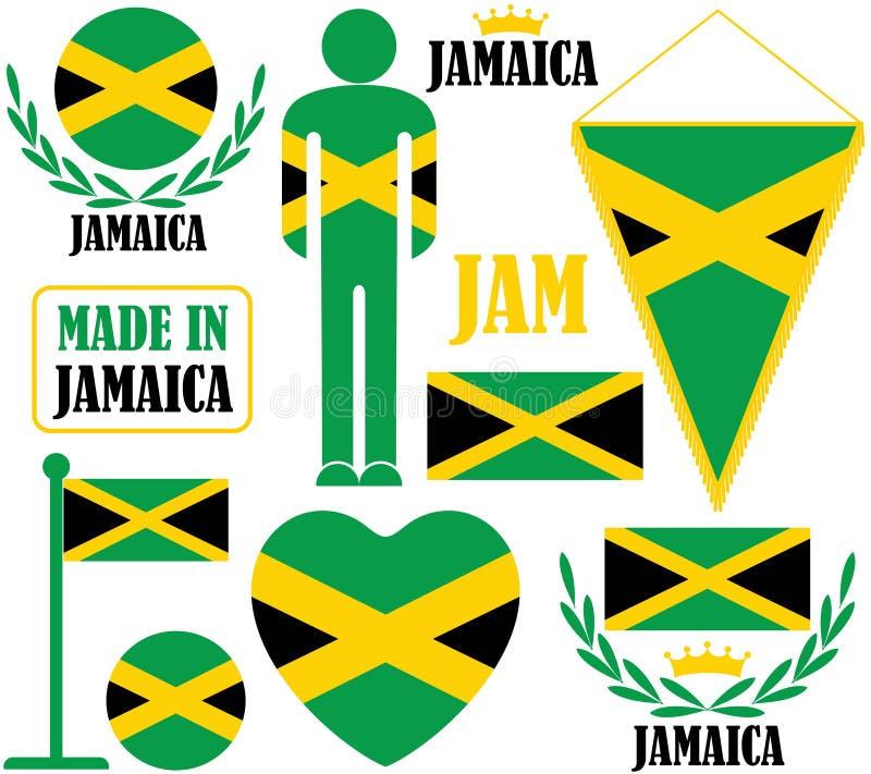 Jamaica. Vector illustration (EPS 10 royalty free illustration