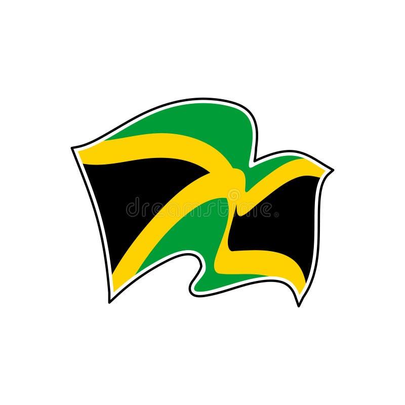 Jamaica vektorflagga Nationellt symbol av Jamaica stock illustrationer