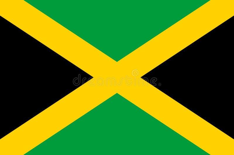 Jamaicaanse nationale vlag, officiële vlag van de nauwkeurige kleuren van Jamaïca vector illustratie