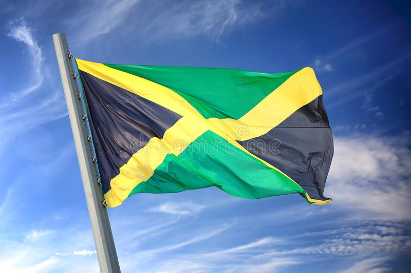 Jamaican flag stock photos