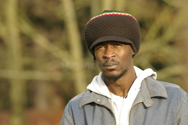 Download Jamaican hat and portrait stock photo. Image of fashion - 4828542