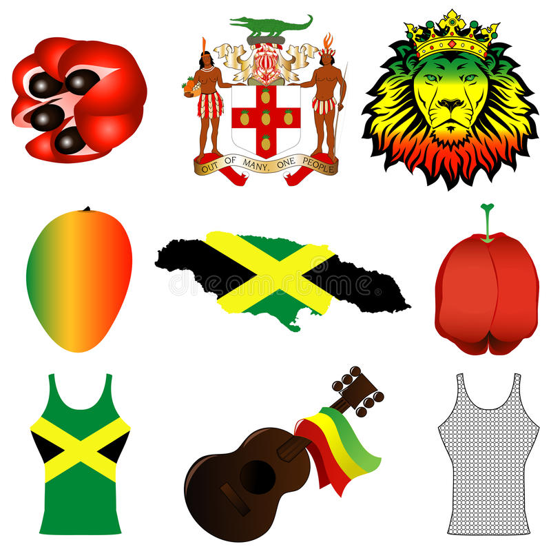Download Jamaican Icons stock vector. Image of ethnic, armor, afrocentric - 20573962