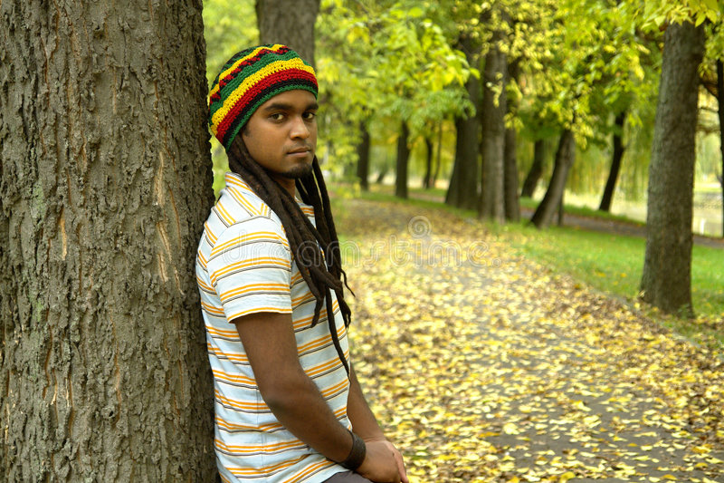 jamaican park royaltyfri foto