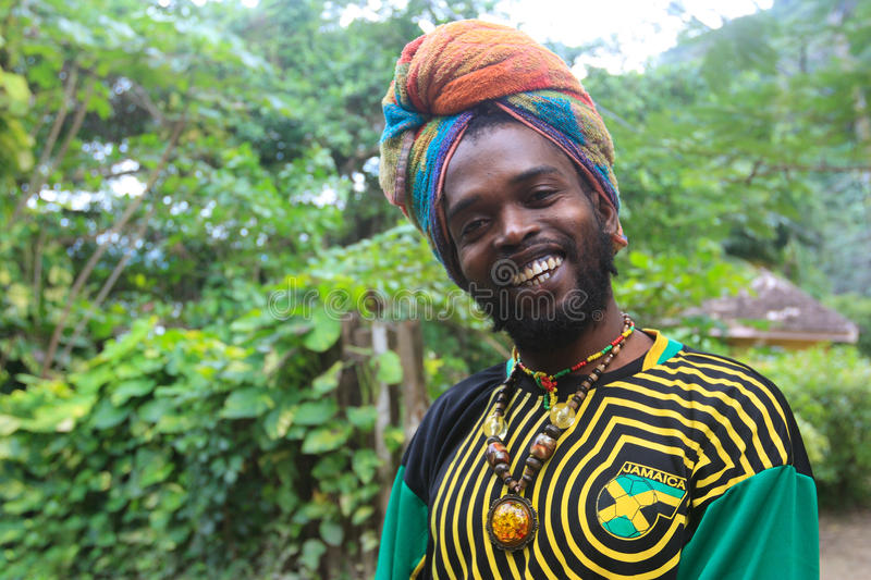 Download Jamaican street vendour editorial stock image. Image of smiling - 23500834