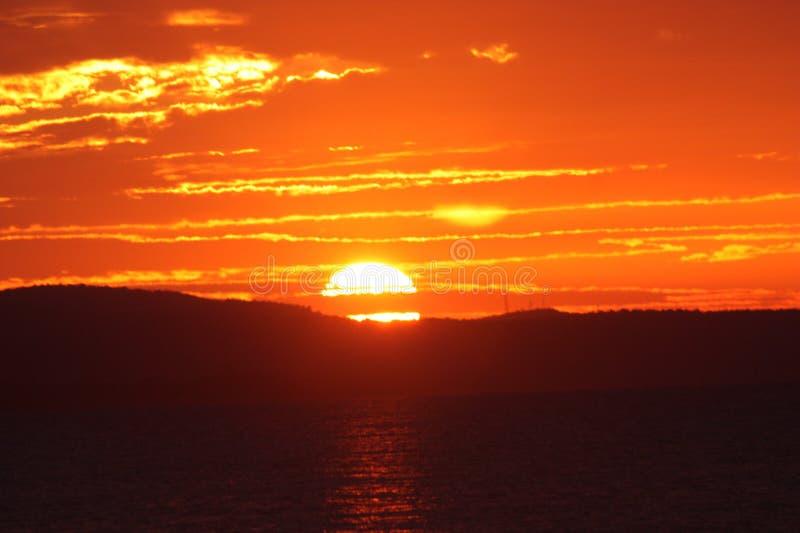 Jamaican sun set royalty free stock image