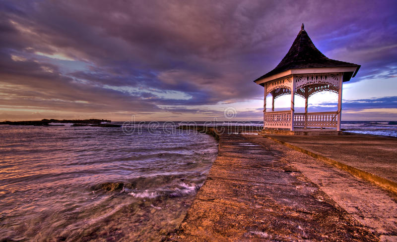Download Jamaican Sunset Over Gazebo (HDR) Stock Photo - Image: 13591228