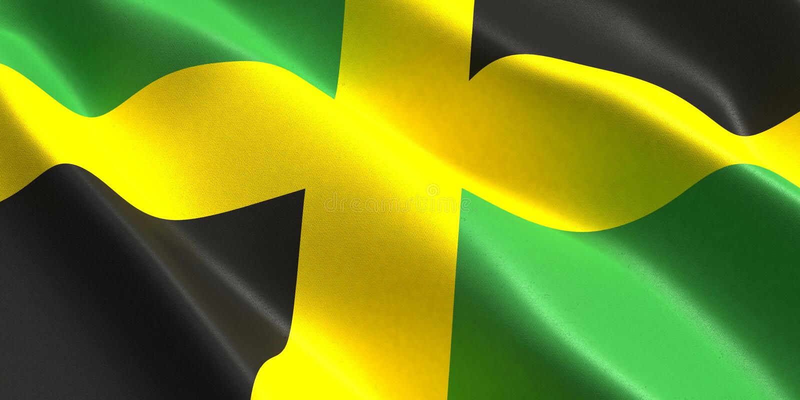 Jamaika-Flagge 3d stock abbildung