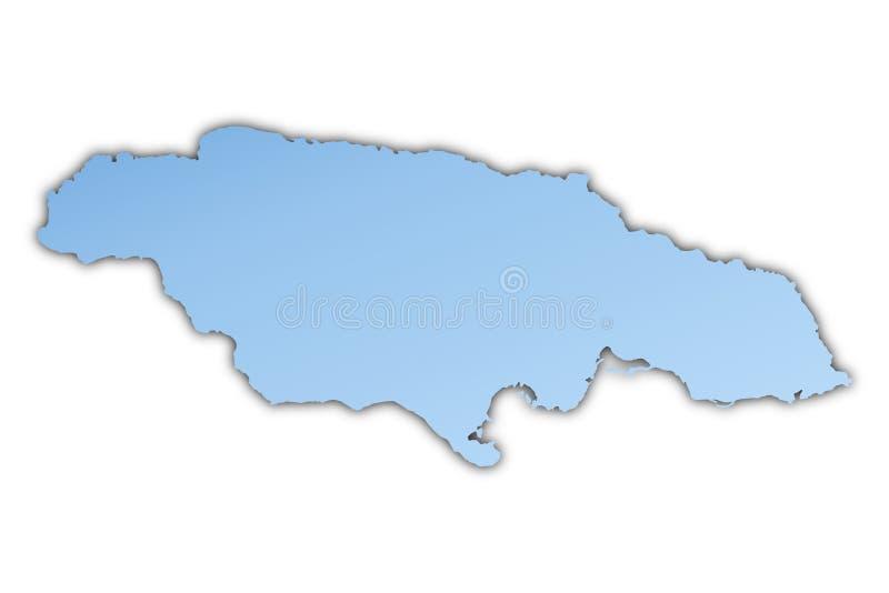 Jamaika-Karte stock abbildung