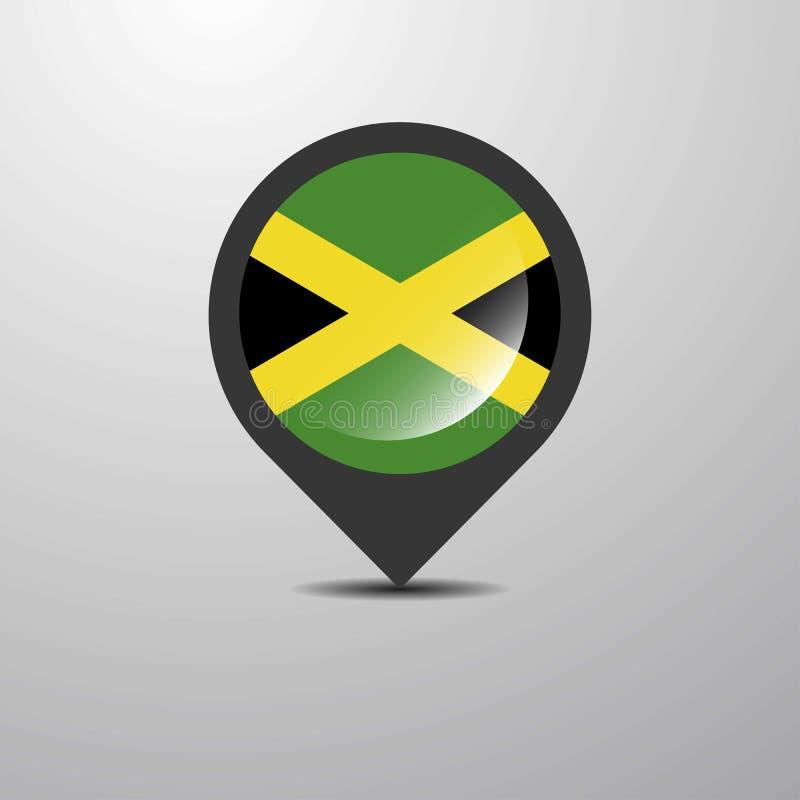 Jamaika-Karte Pin vektor abbildung