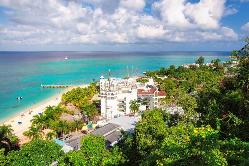 Jamaika-Strand, Montego Bay lizenzfreie stockfotos