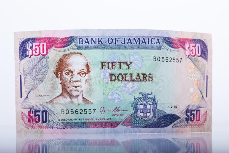 Jamaikansk valuta, 50 dollar sedel royaltyfria bilder