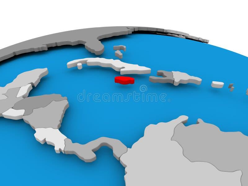 Jamajka na politycznej kuli ziemskiej royalty ilustracja