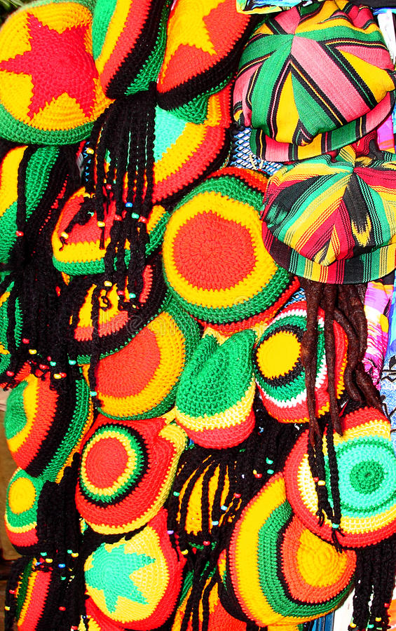 Jamajscy kolory, kapelusze Jamajka/ zdjęcia stock