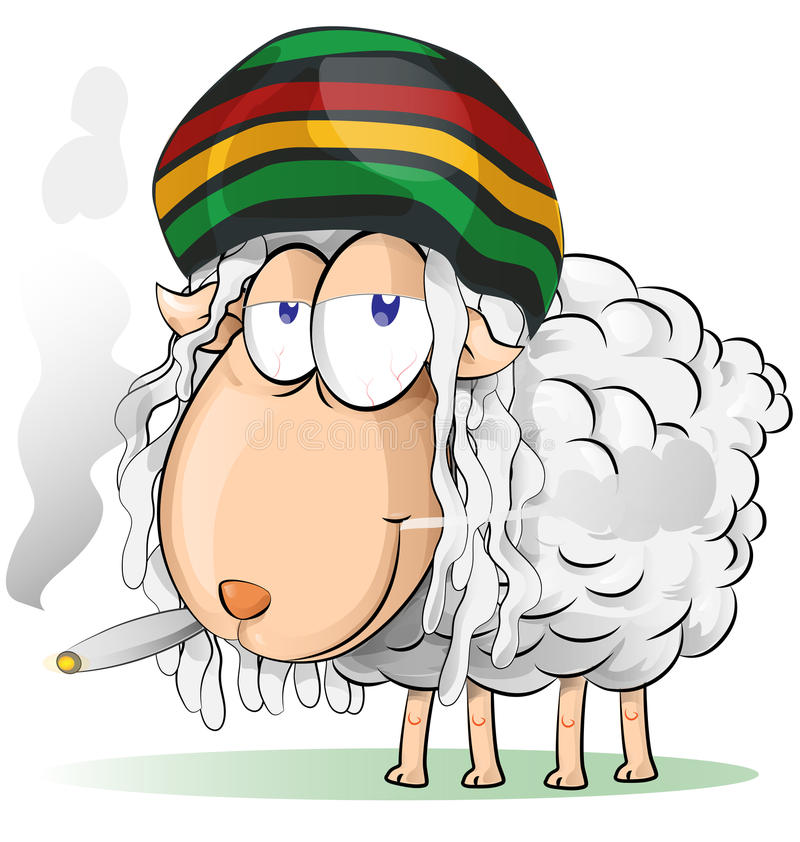 Jamajska barania kreskówka ilustracja wektor