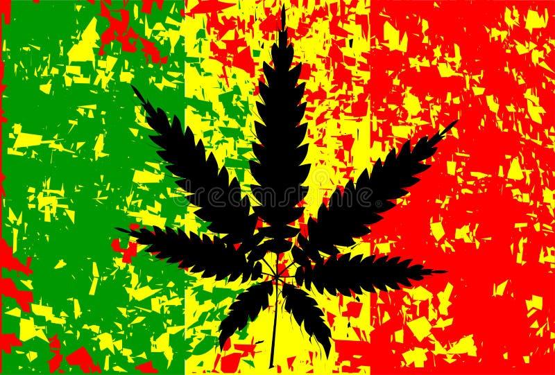 Jamajska Rastafarian flaga royalty ilustracja
