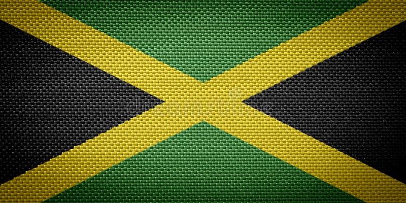 Jamajskie tkanin flaga zdjęcia stock