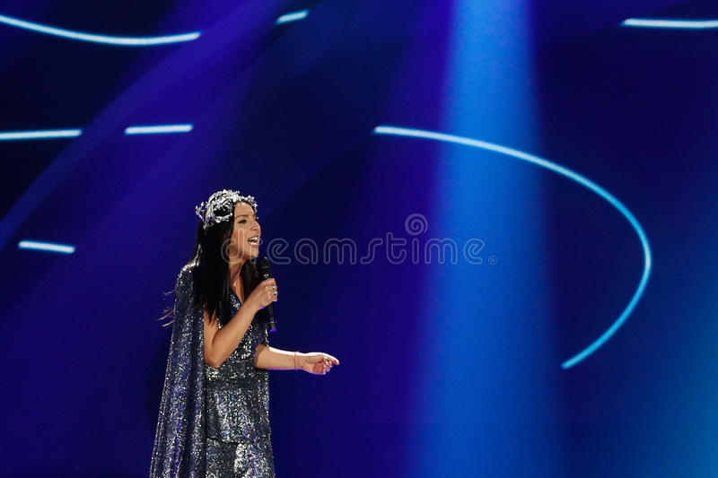Jamala from Ukraine eurovision 2017 royalty free stock image