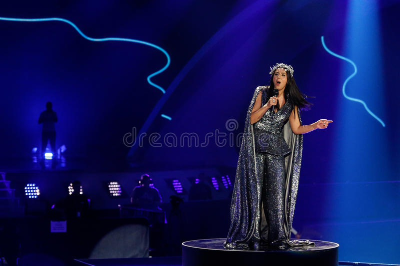 Jamala from Ukraine eurovision 2017 royalty free stock photos