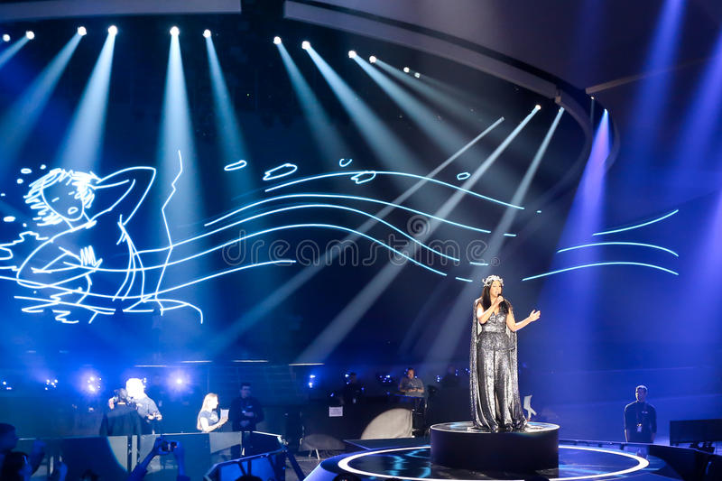 Jamala from Ukraine eurovision 2017 stock images