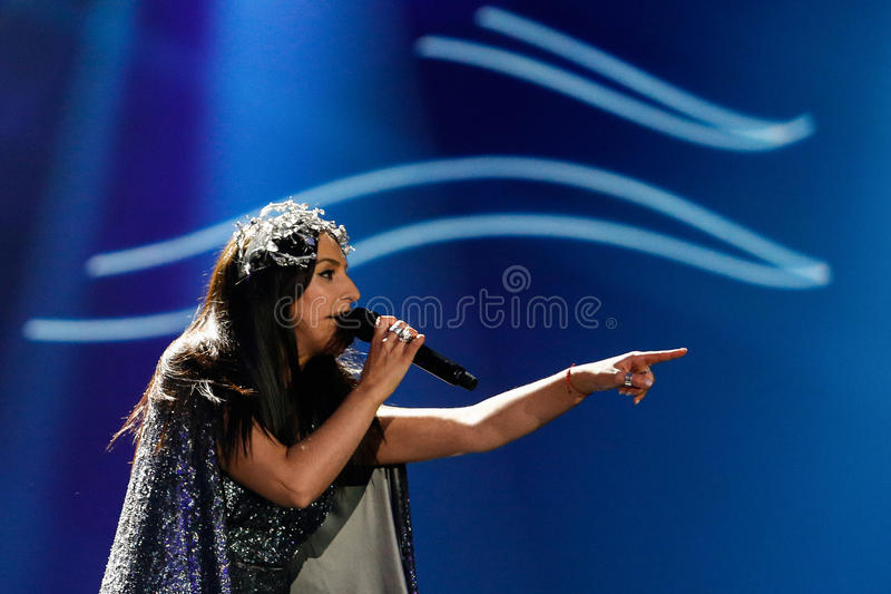 Jamala from Ukraine eurovision 2017 stock photos