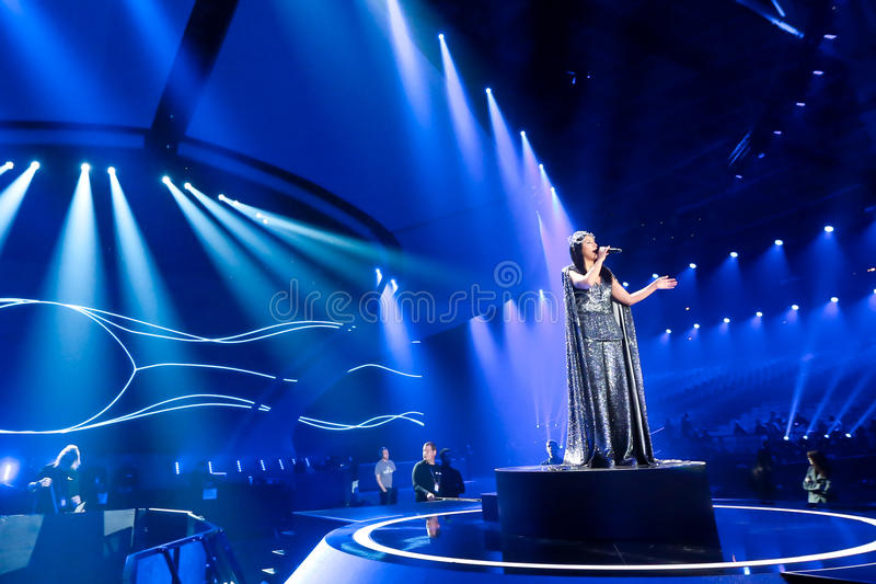 Jamala from Ukraine eurovision 2017 stock photo