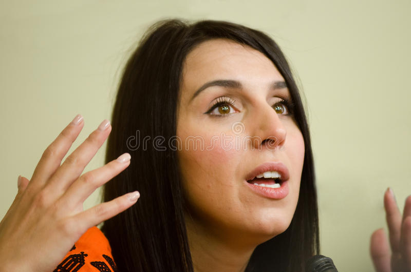 Jamala, the winner of Eurovision Song Contest 2016 stock photography