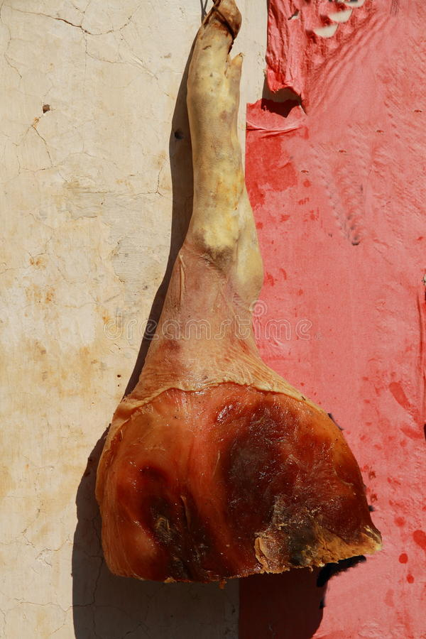 Jambe de porc marinée par spécialités culinaires d'Anhui Hongcun images libres de droits