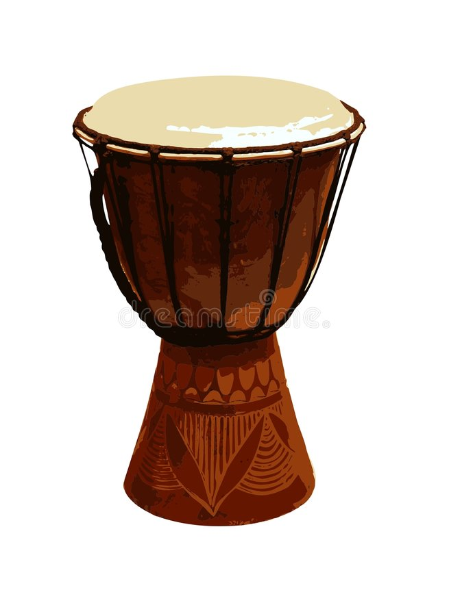 Jambe Drum stock photo