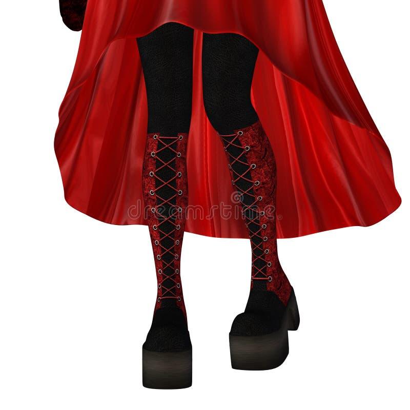 Jambes dans les bottes rouges illustration de vecteur